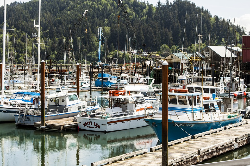 Garibaldi Harbor Fishing Boats Tillamook Bay